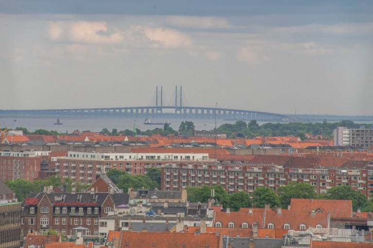Øresund from The Round Tower - Copenhagen
