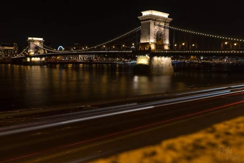 Széchenyi Chain Bridge Budapest Feb 2018