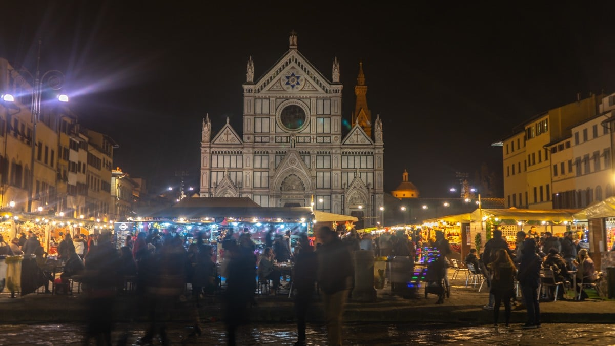 Florence Santa Croce Christmas Market - Florence, Italy