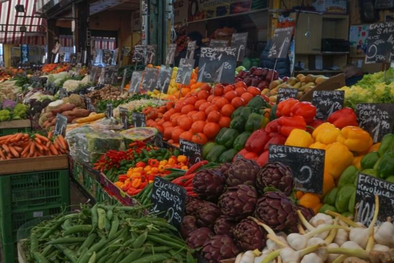 Fruit & veg at Naschmarkt, Vienna Feb 2018