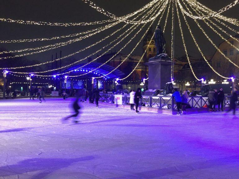 Kungsträdgården Ice skate Rink - Stockholm