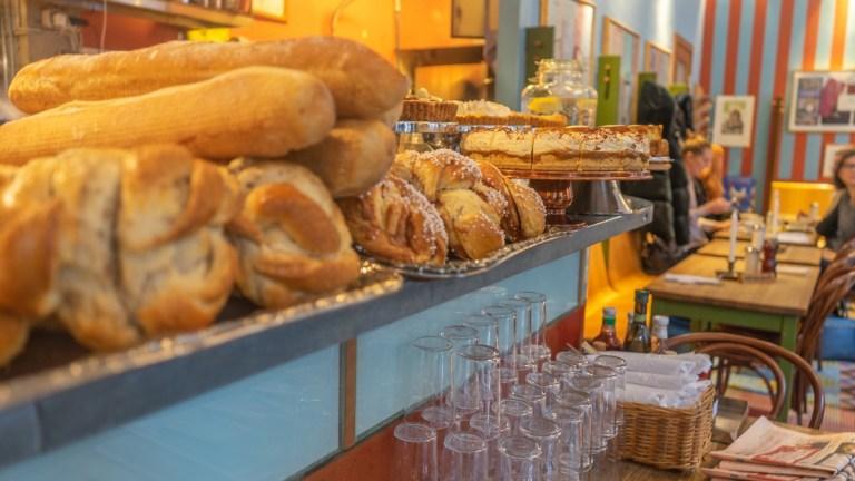 Pastries and cakes at Café Saturnus in Stockholm