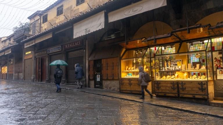 Ponte Vecchio Bridge shops - Florence