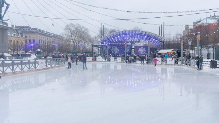 Iceskating in Stockholm