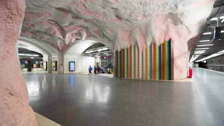 Mörby Centrum ice cream station Stockholm