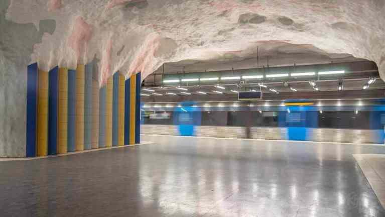 Mörby Centrum station Stockholm