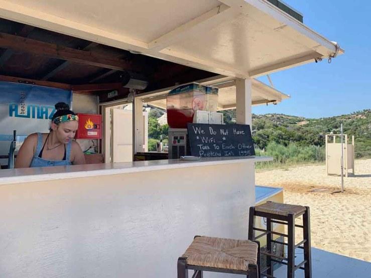 Kriaritisi beach bar