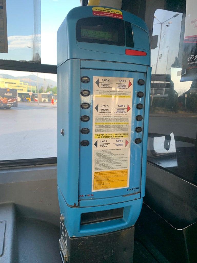 KTEL Bus ticket machine