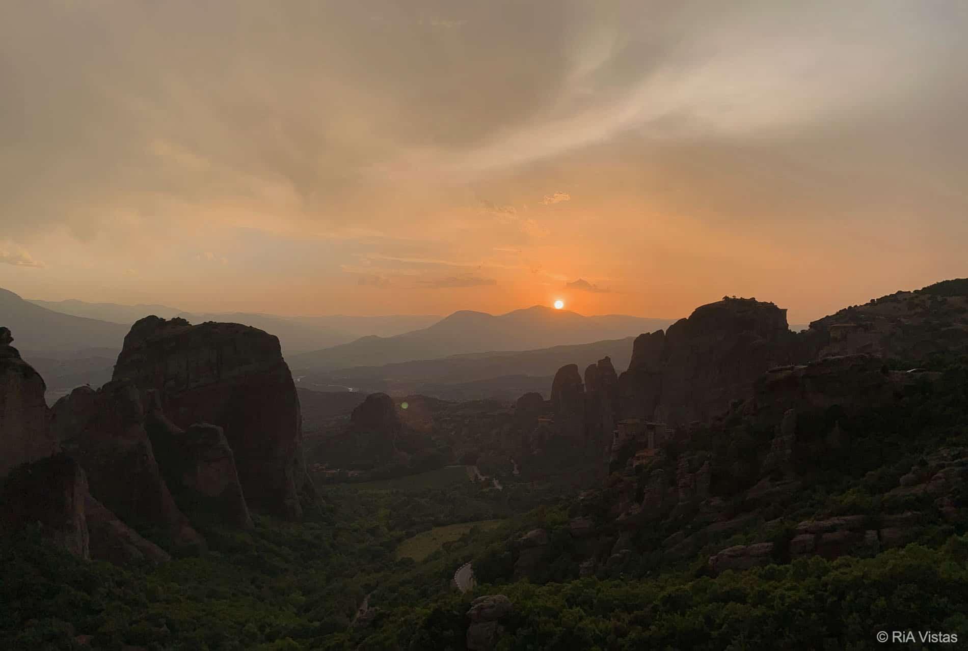 Sunset in Meteora- Kalabaka