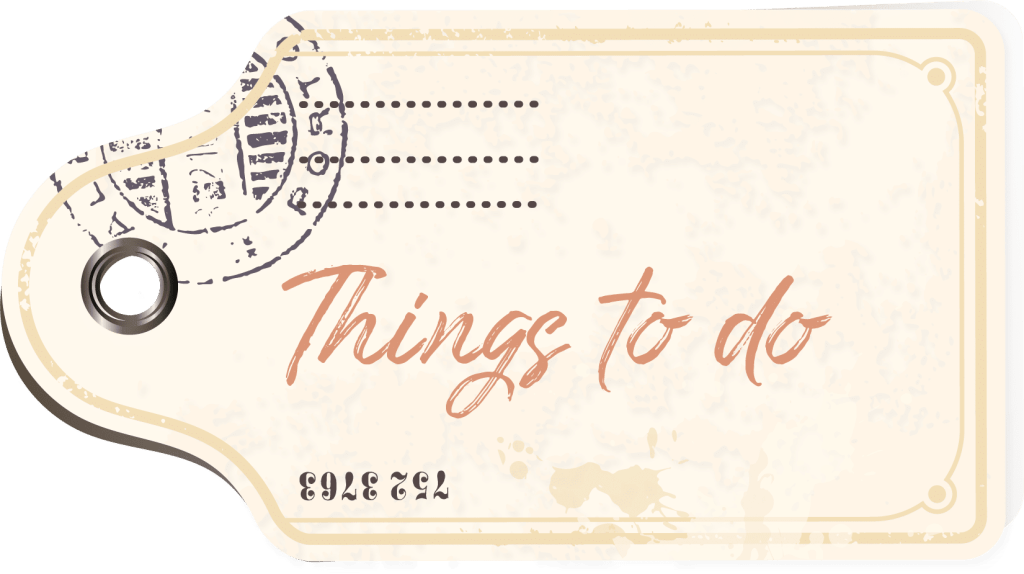 Things to do tag