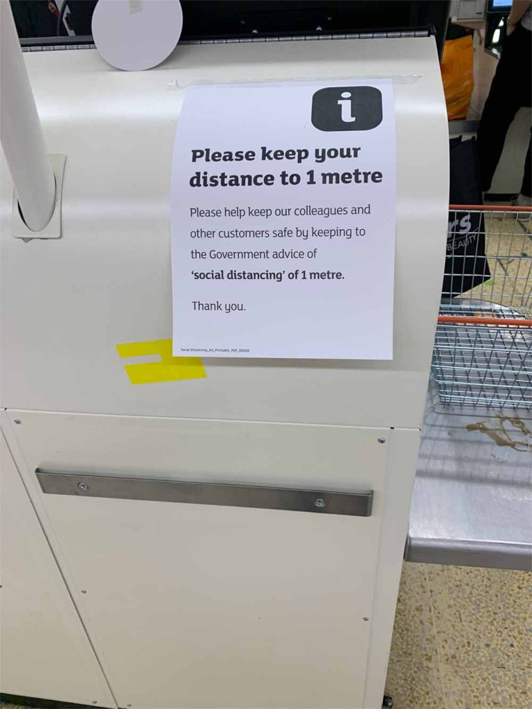 Sainsbury's - Coronavirus social distancing
