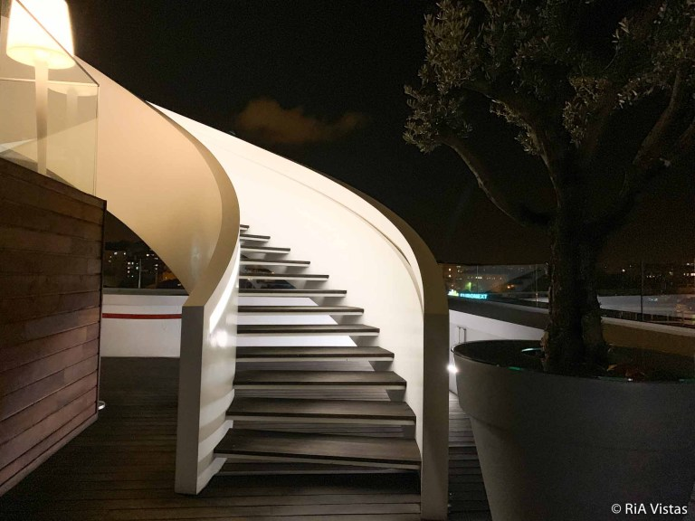 Those white stairs at Sky Bar