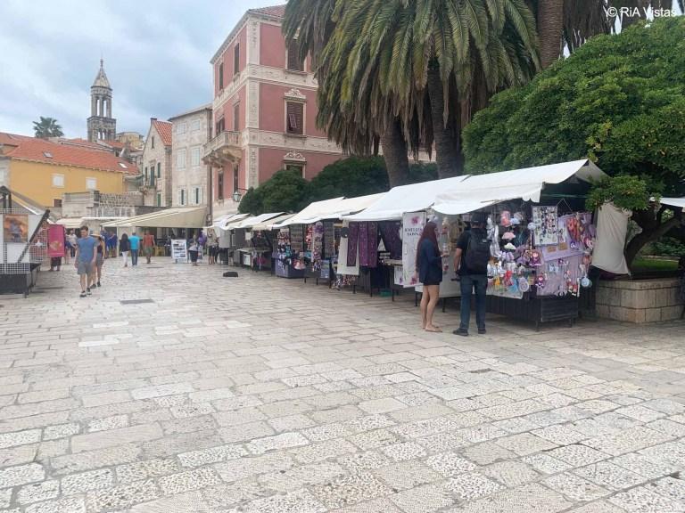 Hvar Town market