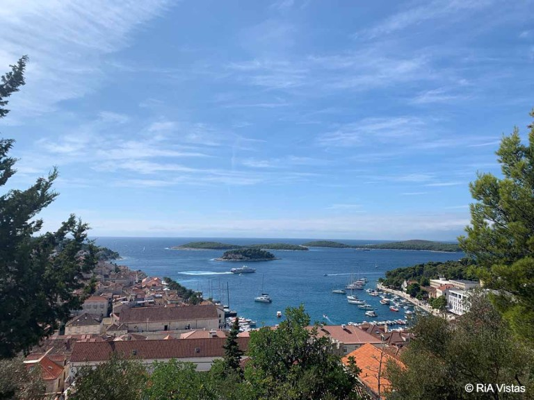 Glorious view from Tvrdava Fortica, Hvar