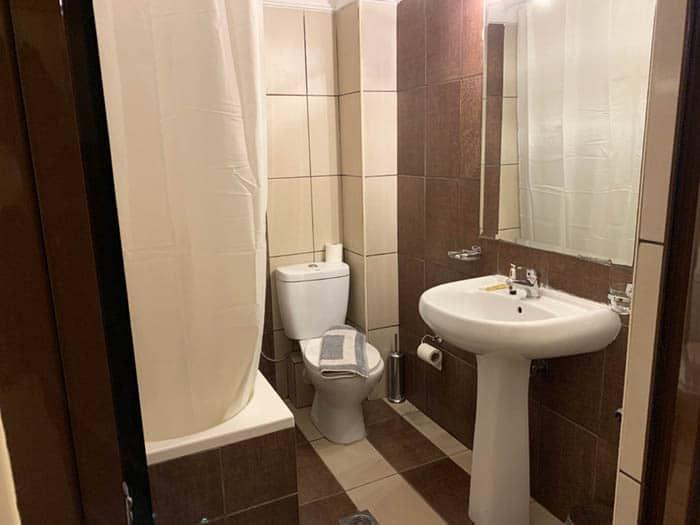 Bathroom at Alexiou Hotel