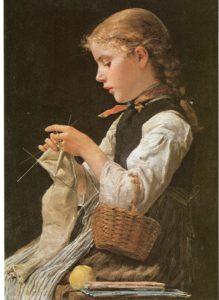 Anker_Strickendes_Mädchen_1884