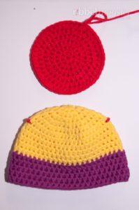 Mütze häkeln - Oberteil - Unterteil