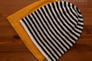 Mütze häkeln - Long Beanie mit ganzen Stäbchen - Anleitung