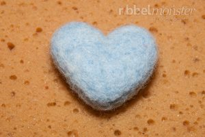 Nadelfilzen Grundkurs - Herz filzen mit Filznadel