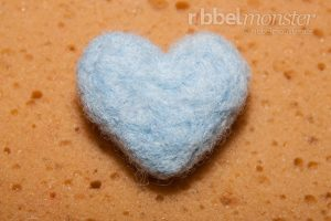 Trockenfilzen Grundkurs - Herz filzen mit Filznadel