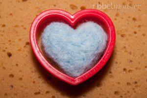 Nadelfilzen lernen - Trockenfilzen lernen - Grundkurs Ausstechformen filzen