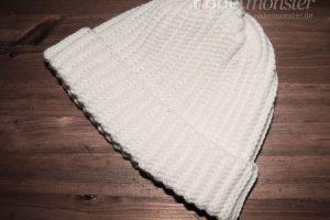 Anleitung einfache Mütze häkeln ohne Zunahmen oder Abnahmen Häkelanleitung