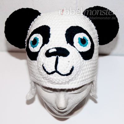 Anleitung Panda Mütze häkeln Paddy