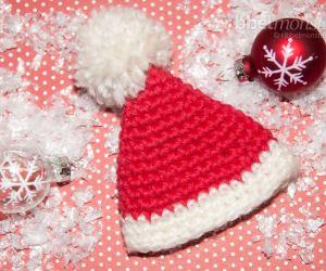 Eierwärmer Weihnachtsmann Mütze häkeln Häkelanleitung