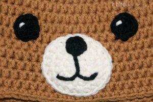Teddy Mütze häkeln Anleitung Gesicht