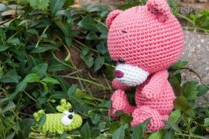 Amigurumi - Häkelanleitung - Teddy häkeln - Pina - Bär - Kuscheltier