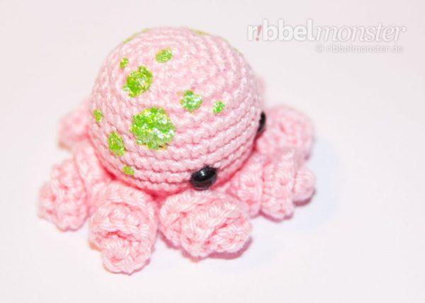 Amigurumi - Baby Oktopus häkeln - Iane - Anleitung - Häkelanleitung