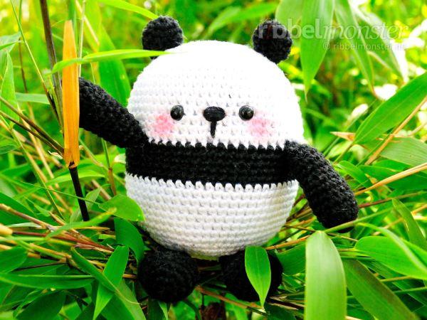 Amigurumi - größten Panda häkeln - Mao - Anleitung - Häkelanleitung