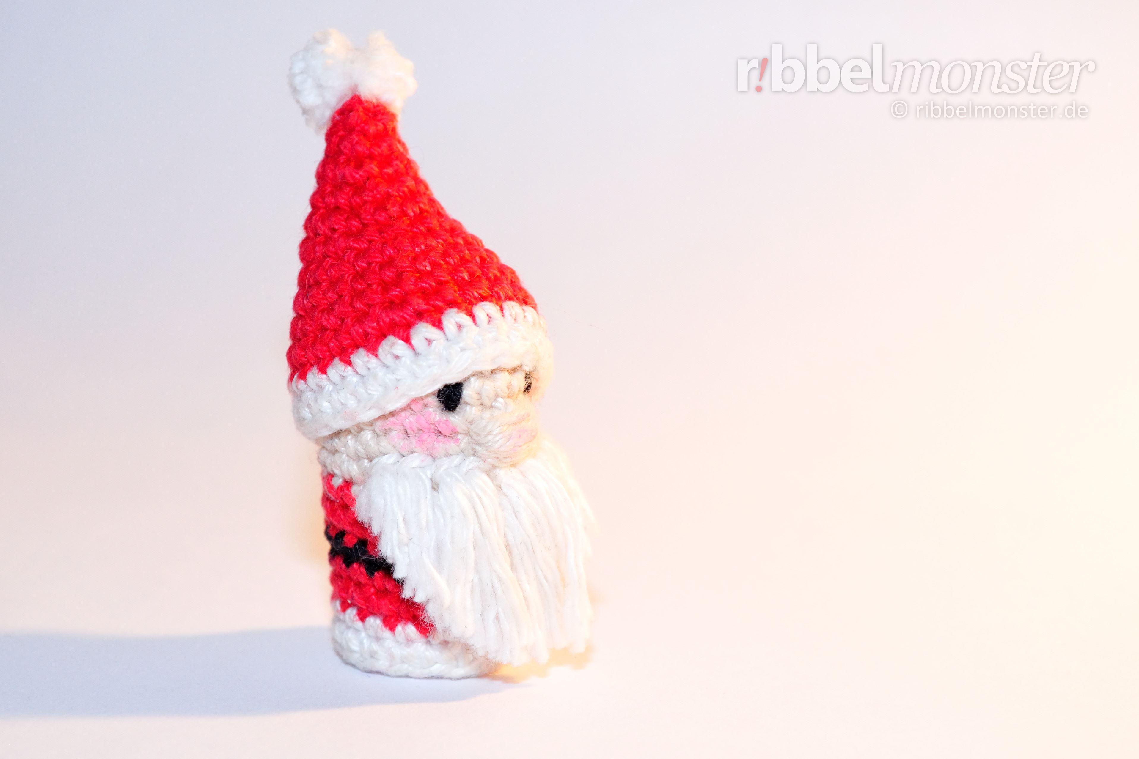 Amigurumi Weihnachtsmann Fingerpuppe Häkeln Premium Kostenlose