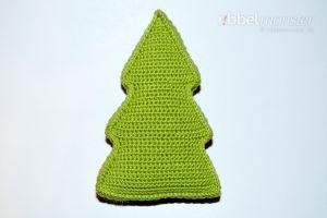 Kleines Weihnachtsbaum Kissen häkeln - gratis Anleitung - kostenlose Häkelanleitung
