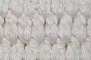 Häkelmuster - Gliederstich häkeln - tiefere ganze Stäbchen in Reihen