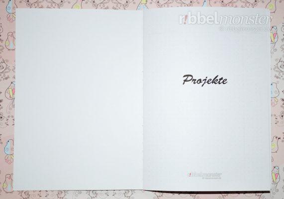 Druckvorlage - DIY Projektbuch basteln - dotted A5 - Deckblatt