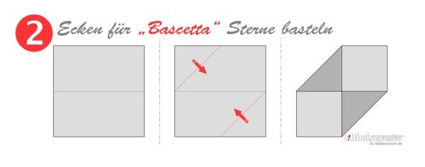 Ecken für Bascetta Sterne basteln - Grundanleitung - Faltanleitung - Schritt 2