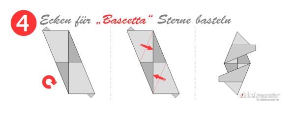 Ecken für Bascetta Sterne basteln - Grundanleitung - Faltanleitung - Schritt 4