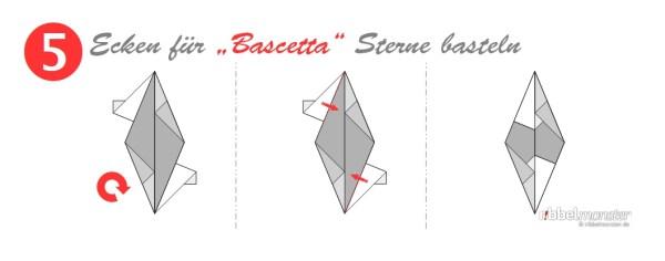 Ecken für Bascetta Sterne basteln - Grundanleitung - Faltanleitung - Schritt 5