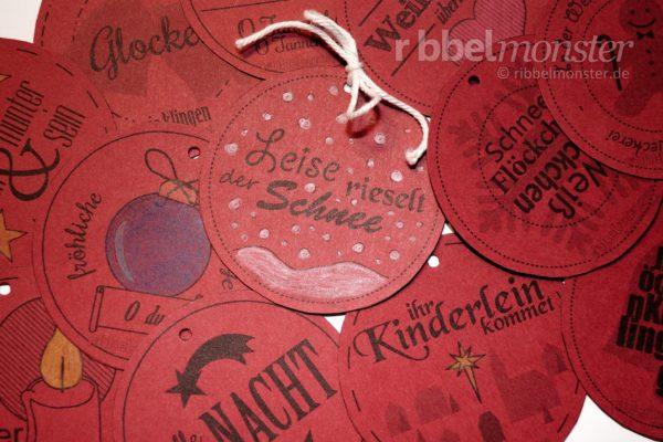 Druckvorlage - Buttons - Deutsche Weihnachtslieder - kostenlose Anleitung - Geschenkanhänger - Weihnachtsgeschenke Anhänger