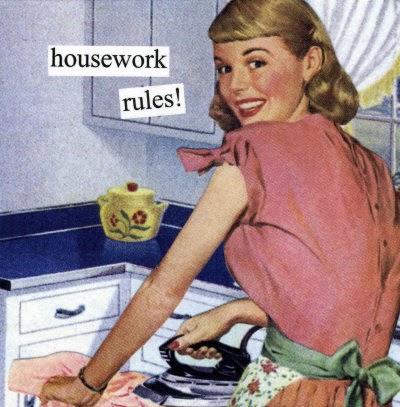 vintage housework rules