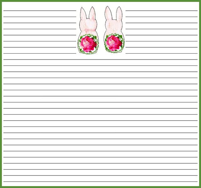 Spring bunny notecards