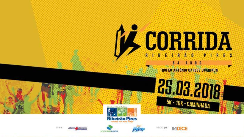 Inscrições com desconto para corrida e caminhada de Ribeirão Pires tem prazo até 13 de fevereiro