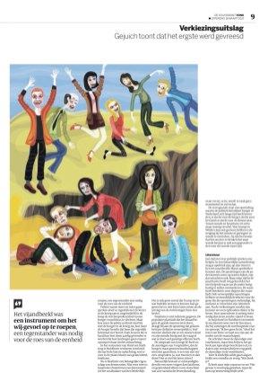 Ilustración para The Volkskrant