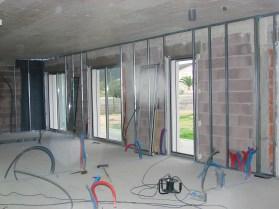 Revestimento de paredes 1º fase estrutura