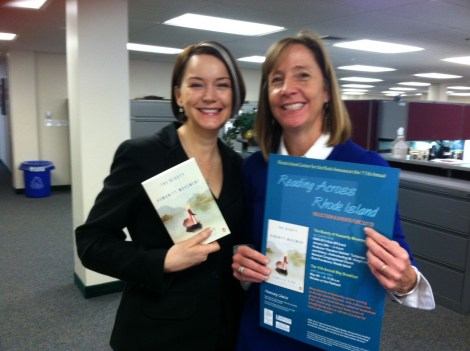 In January 2013, Kate met with Education Commissioner Deborah A. Gist to promote the Letters About Literature Program.