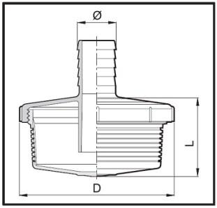 Dimensioni CESTINO DI FONDO 302335 ARAG