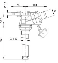 Dimensioni IDROEIETTORE 500035 ARAG