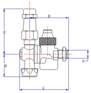 Disegno tecnico GETTO DOPPIO REGOL G31815.14M VALVOLMECCANICA