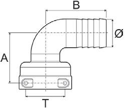 Disegno tecnico RACCORDO 1190516 ARAG